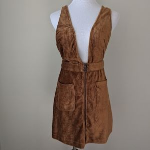 NWT Moon River cordoroy overall dress